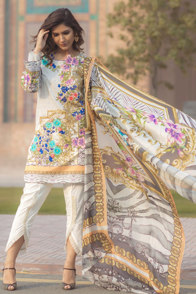 Firdous Spring/Summer Lawn Collection 2018 – EXC 18-14
