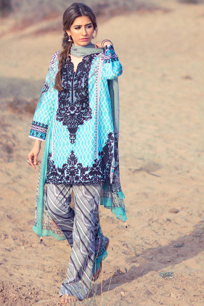 Zara Shahjahan Lawn Collection 2016 – Rajastani Mor - YourLibaas  - 1