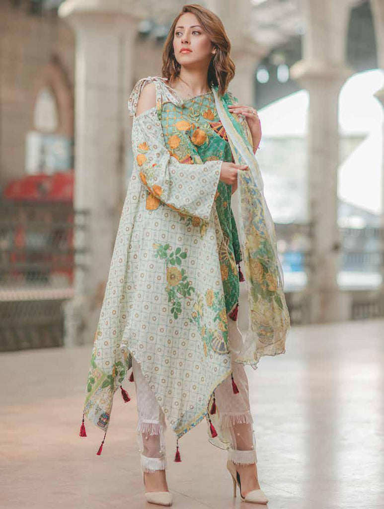 Carnation Luxury Lawn Collection by Rang Rasiya – Design 146A