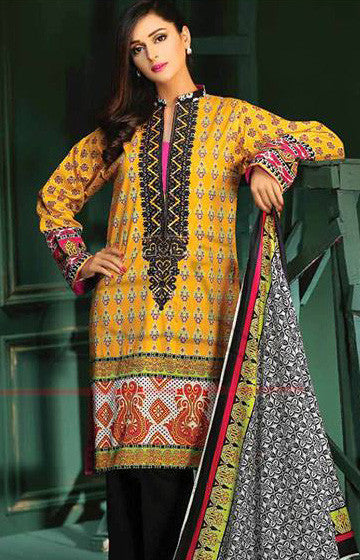 14A - Lala Classic Cotton Embroidery Vol 2 - YourLibaas  - 1
