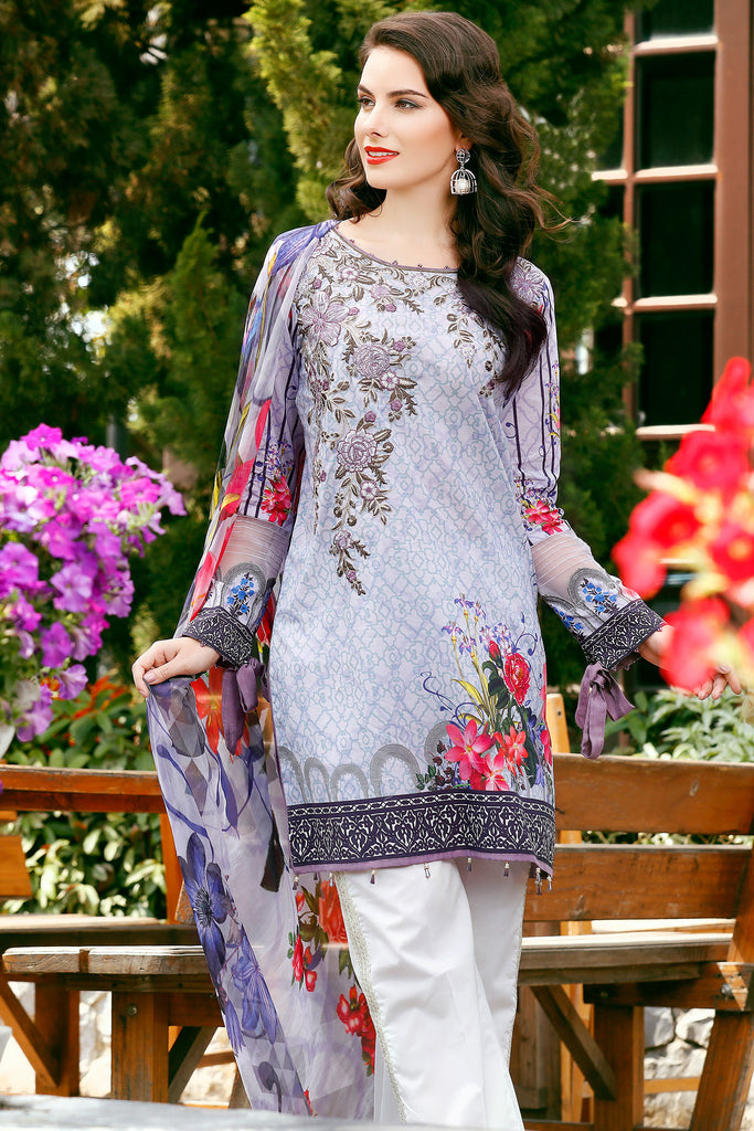 Baroque Embroidered Chantelle Lawn Collection Vol-1 – Caprice