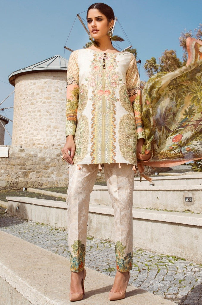Shiza Hassan Luxury Lawn Collection '18 – Coursage - 9A