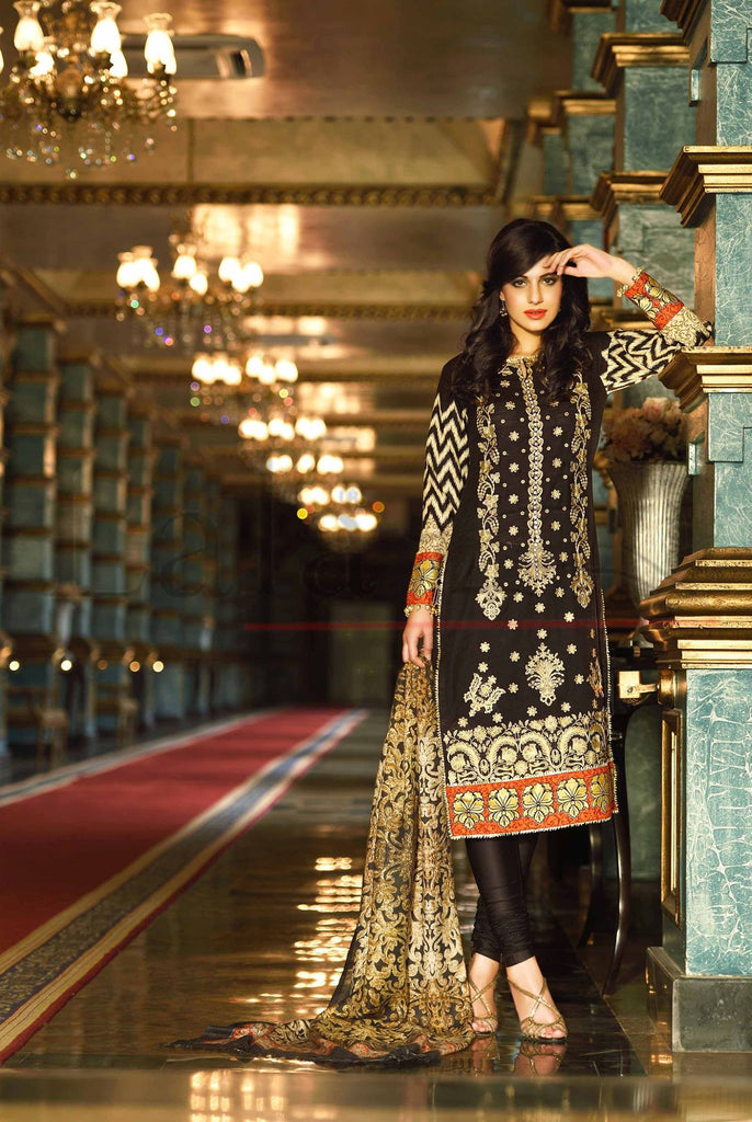Lala Brocade Winter Collection With Woolen Shawl - 14 - YourLibaas