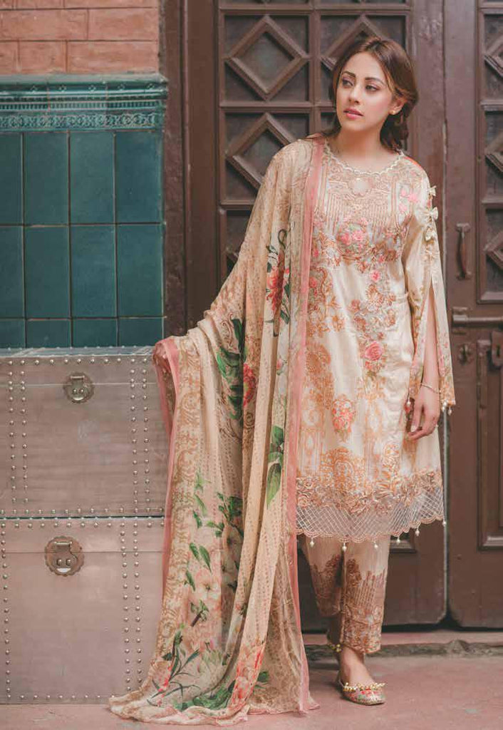 Carnation Luxury Lawn Collection by Rang Rasiya – Design 151A