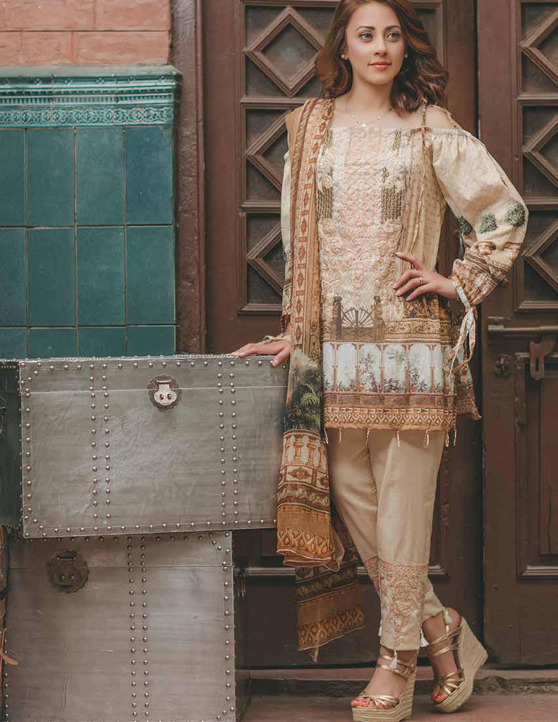Carnation Luxury Lawn Collection by Rang Rasiya – Design 152A