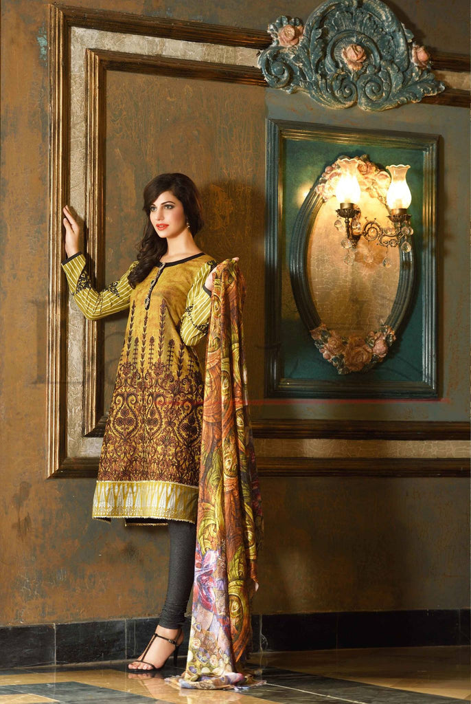 Lala Brocade Winter Collection With Woolen Shawl - BR05 - YourLibaas