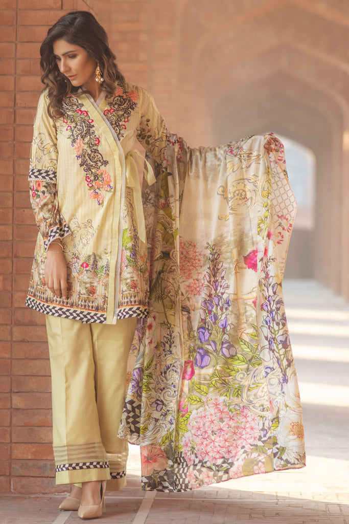 Firdous Spring/Summer Lawn Collection 2018 – EXC 18-16