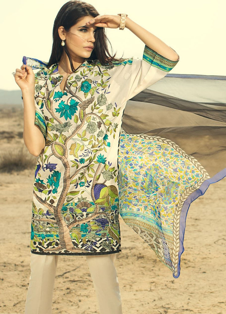 Sana Safinaz Spring/Summer Lawn Collection 2016 – 16B - YourLibaas  - 1