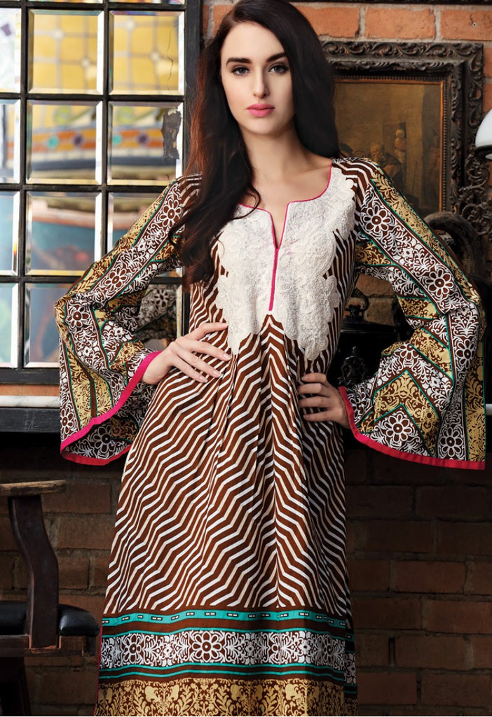 Firdous Embroidered Lawn Kurtis 2016 – 2B - YourLibaas  - 1