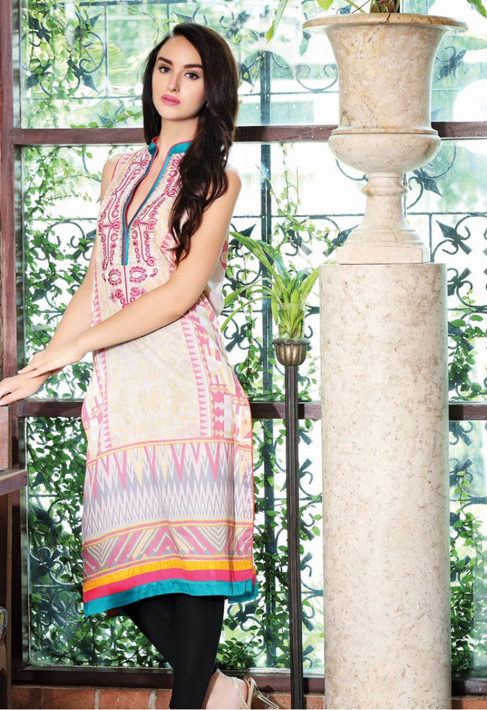 Firdous Embroidered Lawn Kurtis 2016 – 4A - YourLibaas  - 1