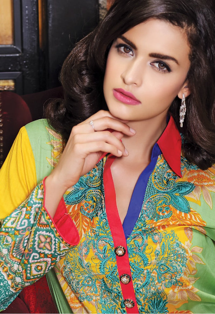 Firdous Embroidered Lawn Kurtis 2016 – 6A - YourLibaas  - 1