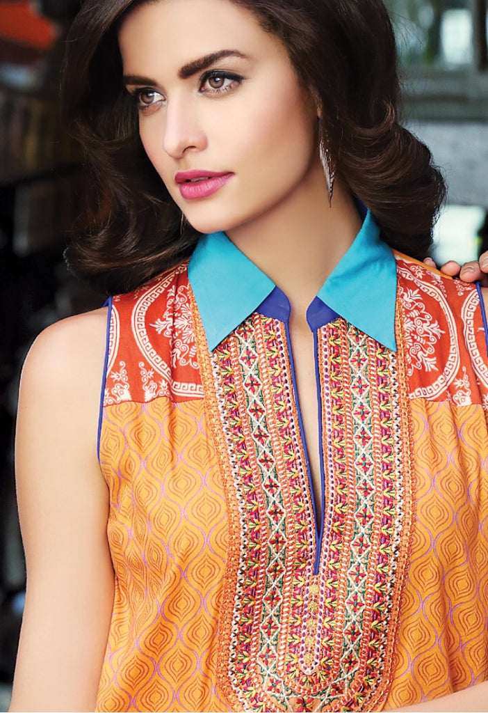 Firdous Embroidered Lawn Kurtis 2016 – 8A - YourLibaas  - 1