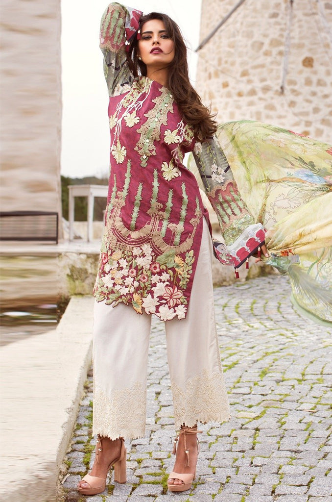 Shiza Hassan Luxury Lawn Collection '18 – Hibiscus - 10A