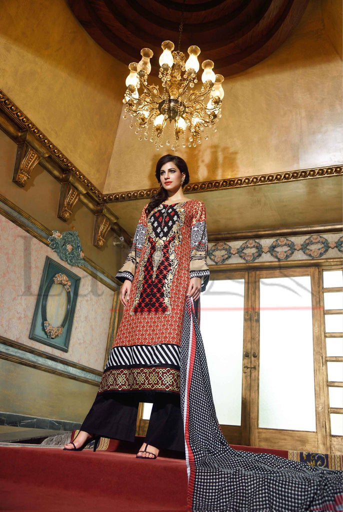 Lala Brocade Winter Collection With Woolen Shawl - 17 - YourLibaas