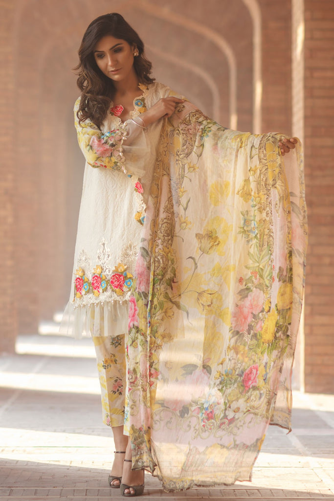 Firdous Spring/Summer Lawn Collection 2018 – EXC 18-18