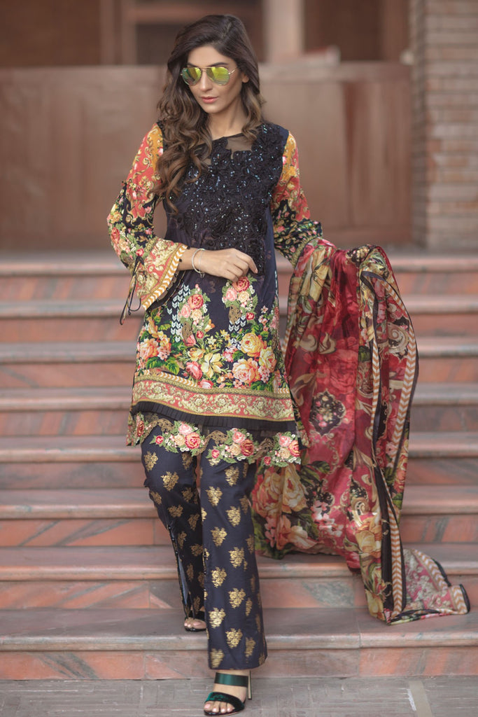 Firdous Spring/Summer Lawn Collection 2018 – EXC 18-19