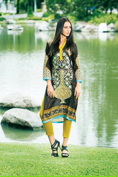 Zanisha Embroidered Kurti 2016 – 1A - YourLibaas  - 1