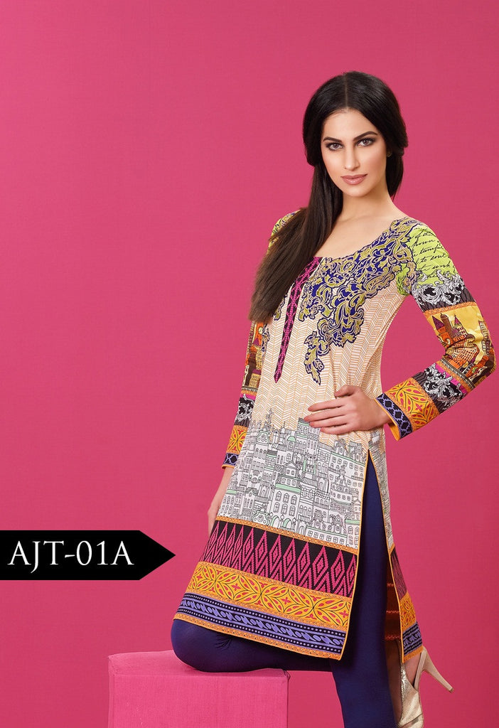 Asim Jofa Lawn Tunics Collection - AJT-1A - YourLibaas  - 1