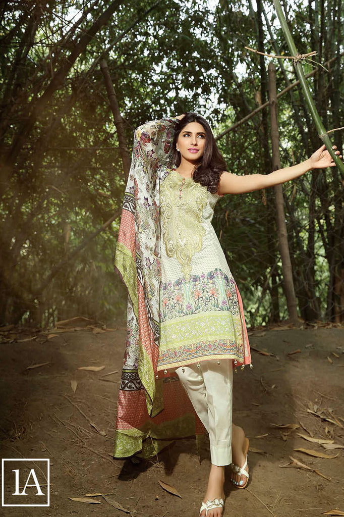 ZarQash Luxury Lawn Spring/Summer - 1A - YourLibaas  - 1