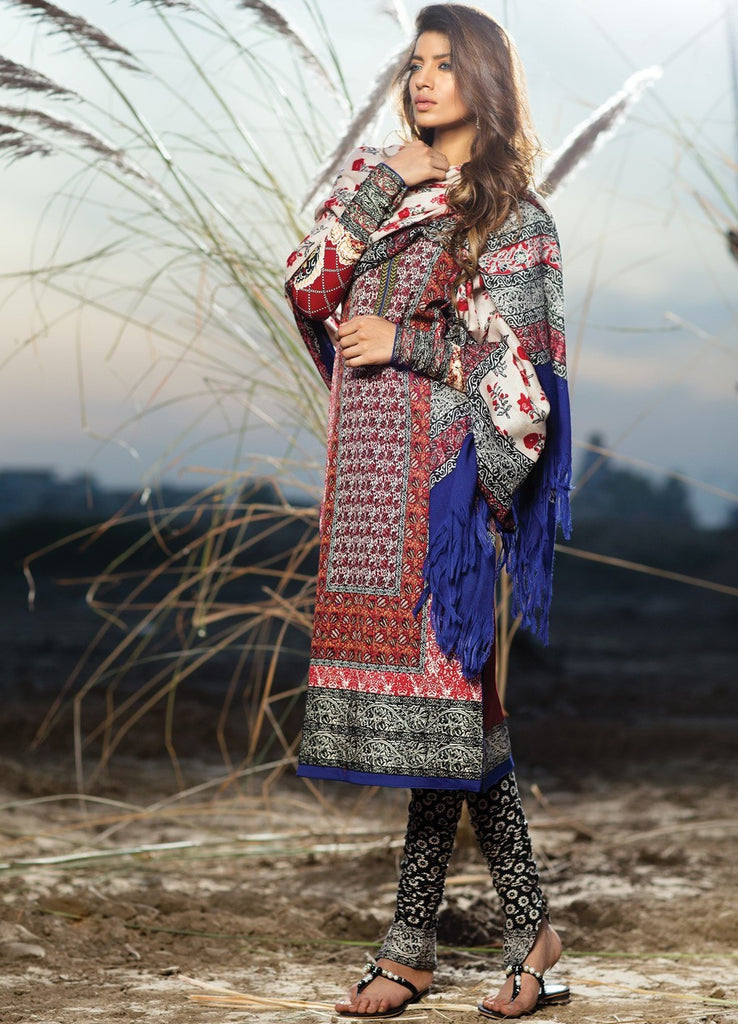 Sana Safinaz Winter Shawl Collection 2015 - 01A - YourLibaas