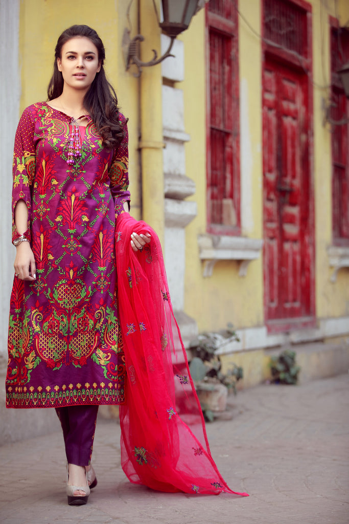 Libas Designer Embroidered Collection – 1B - YourLibaas  - 1