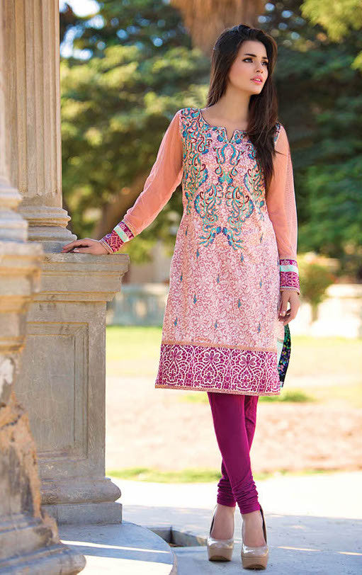 Subhata Embroidered Lawn Tunic Collection - 1B - YourLibaas  - 1