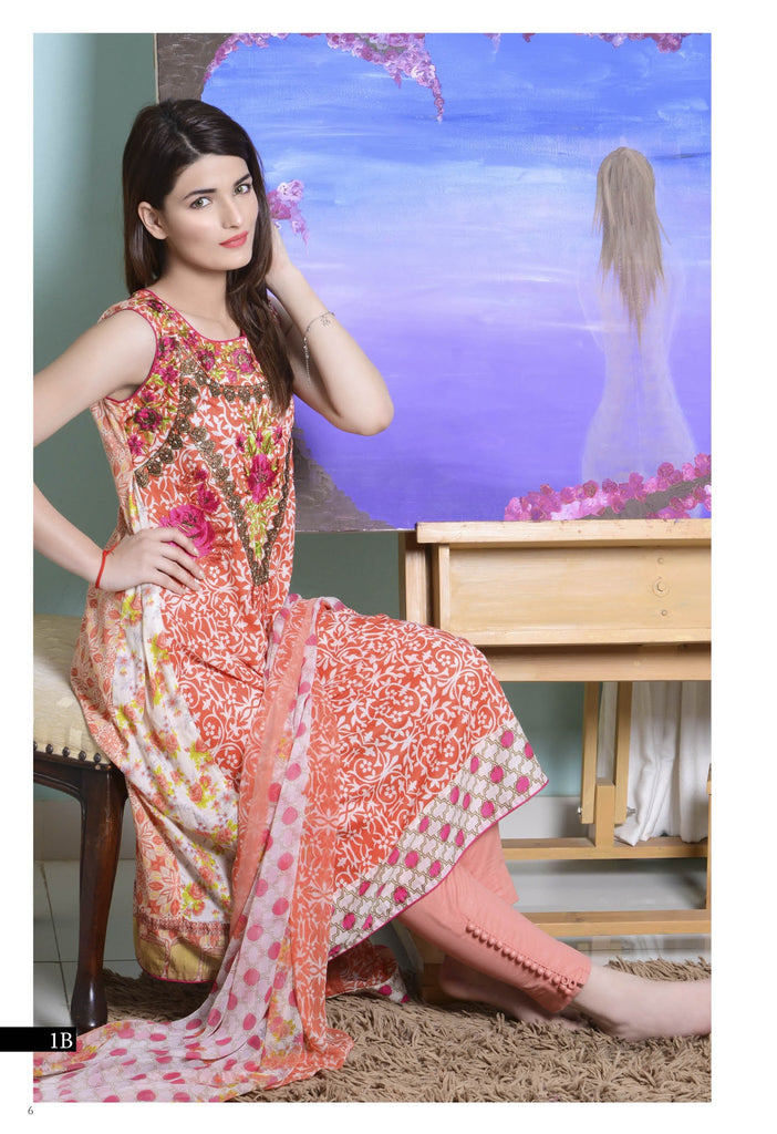 Kalyan Designer Embroidered Collection 2016 – 1B - YourLibaas  - 1