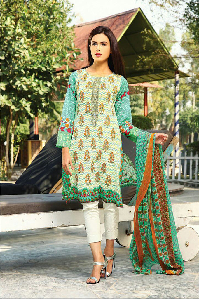 RajBari Spring/Summer Embroidered Lawn – 01B - YourLibaas  - 1