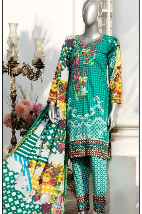 Aisha Sawera Embroidered Lawn Collection Vol-2 – 1B