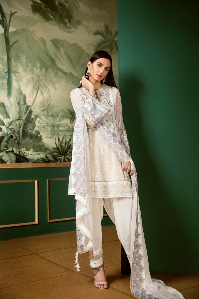 Baroque Classic Whites Luxury Chiffon Collection 2018 – Blanc Glory