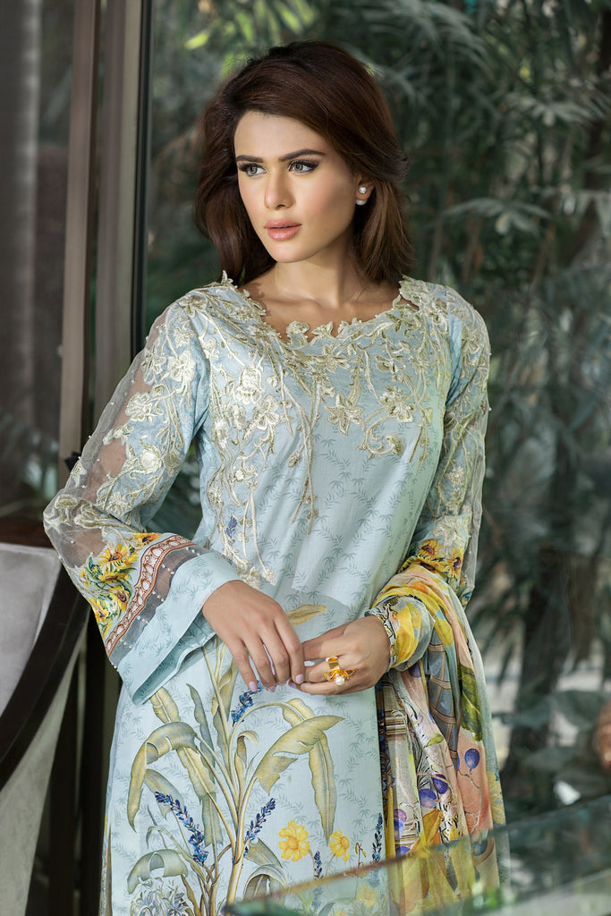 Rungrez Festive Lawn Collection 2016 – Dazzling Sunflower - YourLibaas  - 1