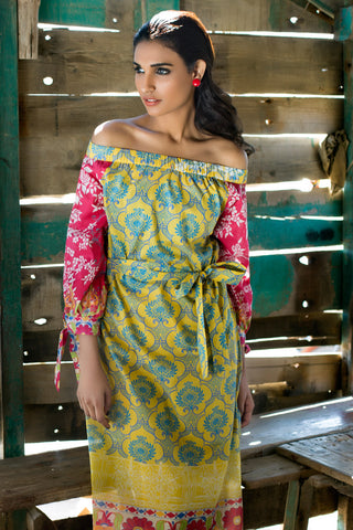 571f53914b 24% OFF Sold Out Gul Ahmed Summer 2017 - Yellow 2 PC Printed Lawn TL-77 A