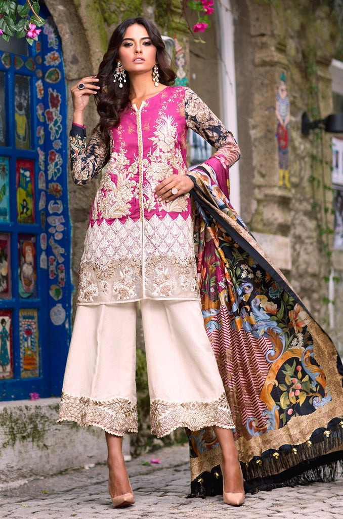 Shiza Hassan Luxury Lawn Collection '18 – Marigold - 6B