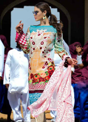 Ayesha Ibrahim Festive Luxury Lawn Collection – 1A