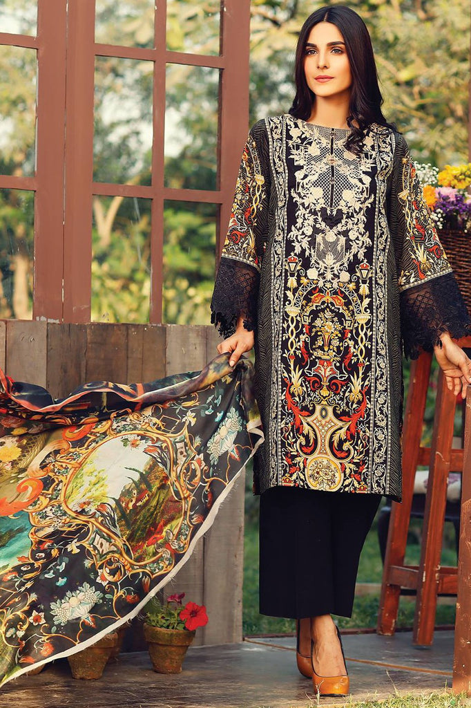RajBari Embroidered Lawn Collection 2017 – 1A
