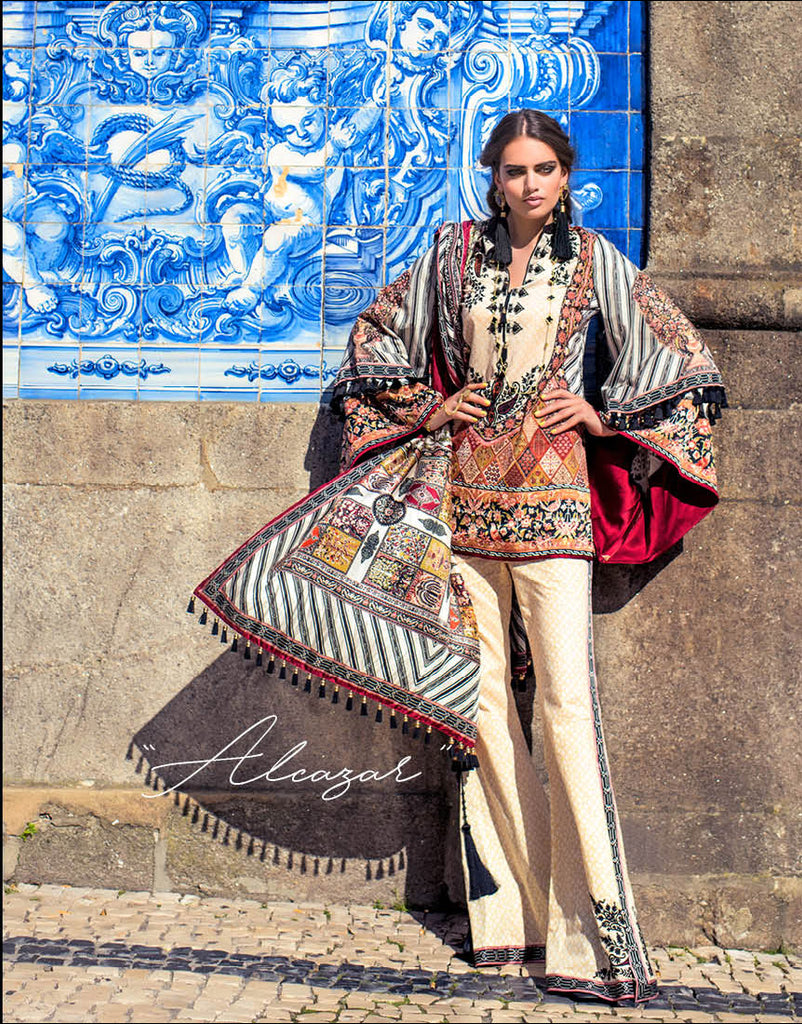 Shehla Chatoor Luxury Lawn Collection – 01-A