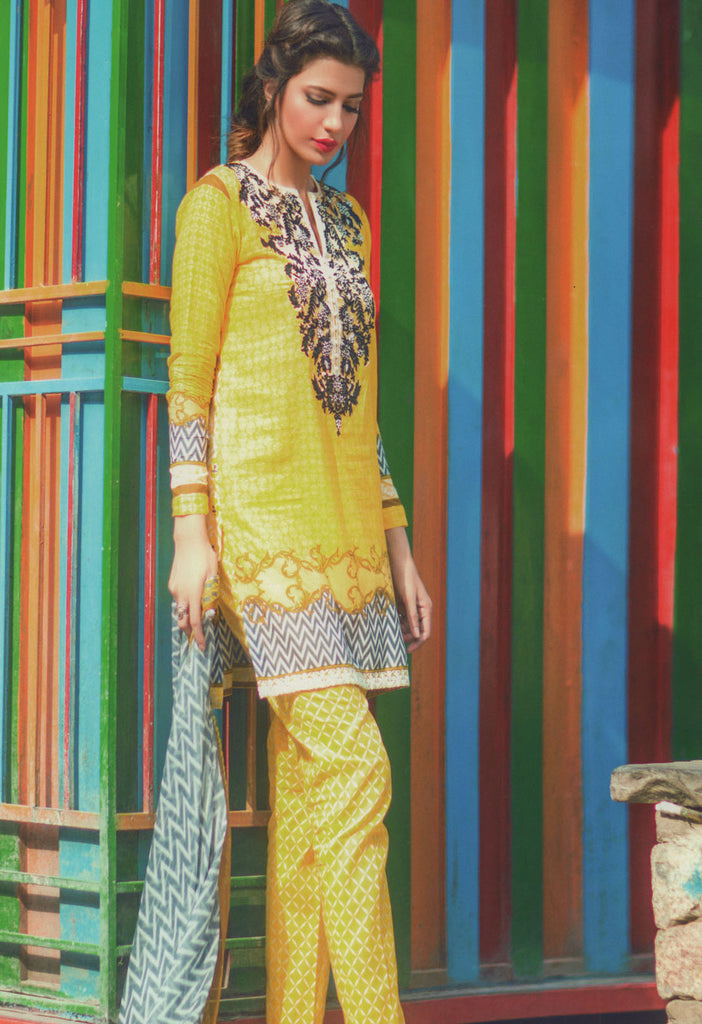 Mina Hasan Designer Lawn Collection 2016 – 1B - YourLibaas  - 1