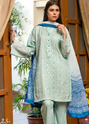 Sahil Embroidered Lawn Eid Collection Vol-10 – 01B
