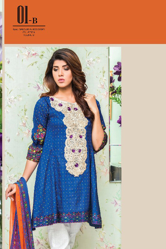 Sahil Designer Lawn Collection Vol-8 – 01B