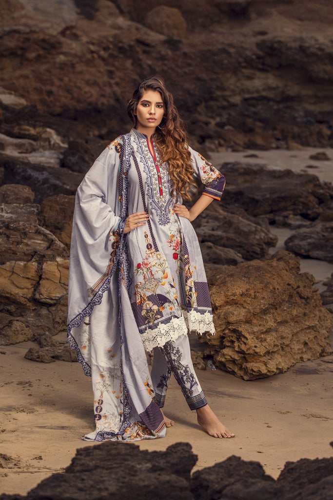 Iman Embroidered Lawn Collection 2020 – IE-1B