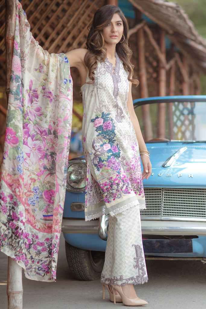 Firdous Spring/Summer Lawn Collection 2018 – EXC 18-20