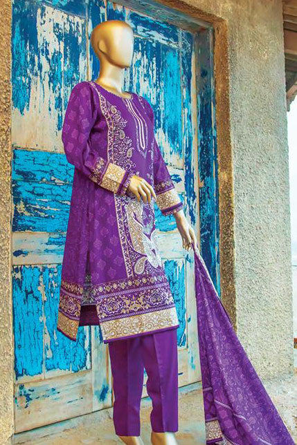 HZ Textiles Diamond Classic Lawn Collection – Design 22 Purple