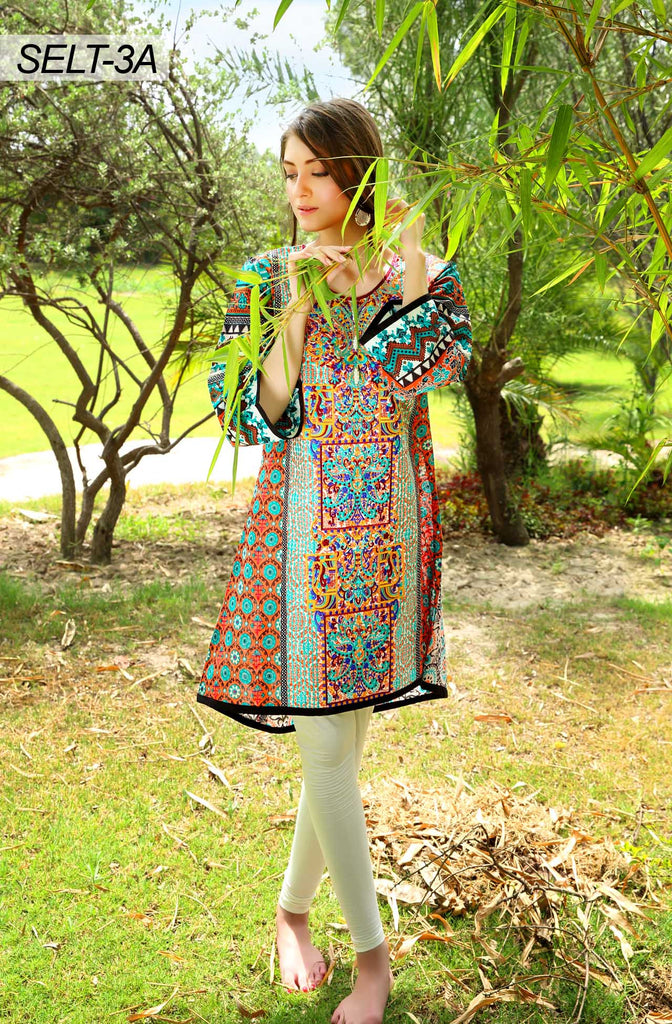 Sifona Embroidered Lawn Tunics '16 – 3A - YourLibaas  - 1