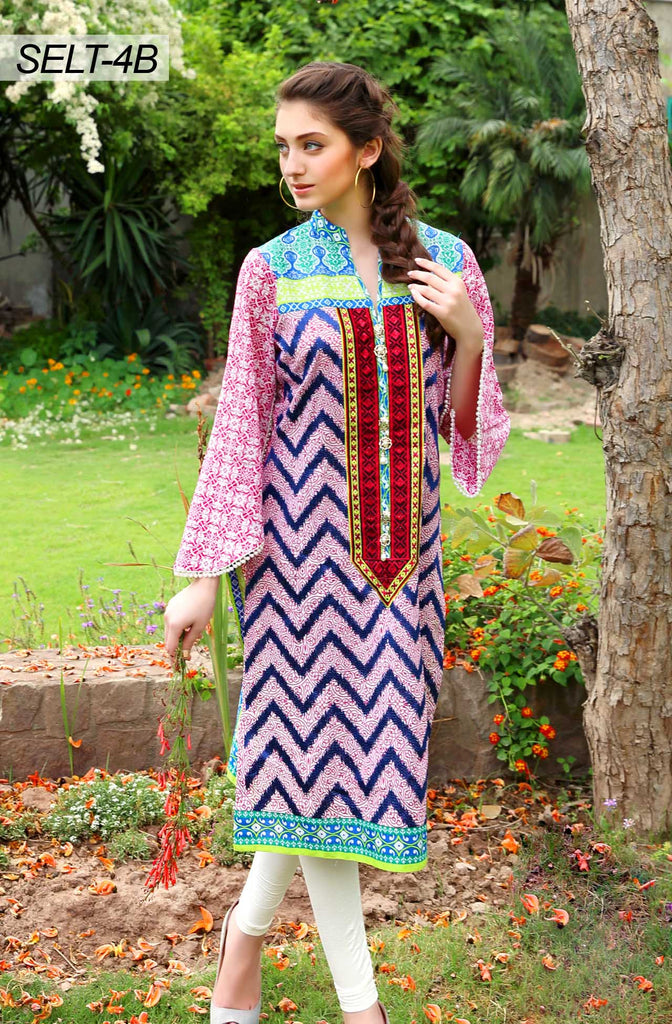 Sifona Embroidered Lawn Tunics '16 – 4B - YourLibaas  - 1