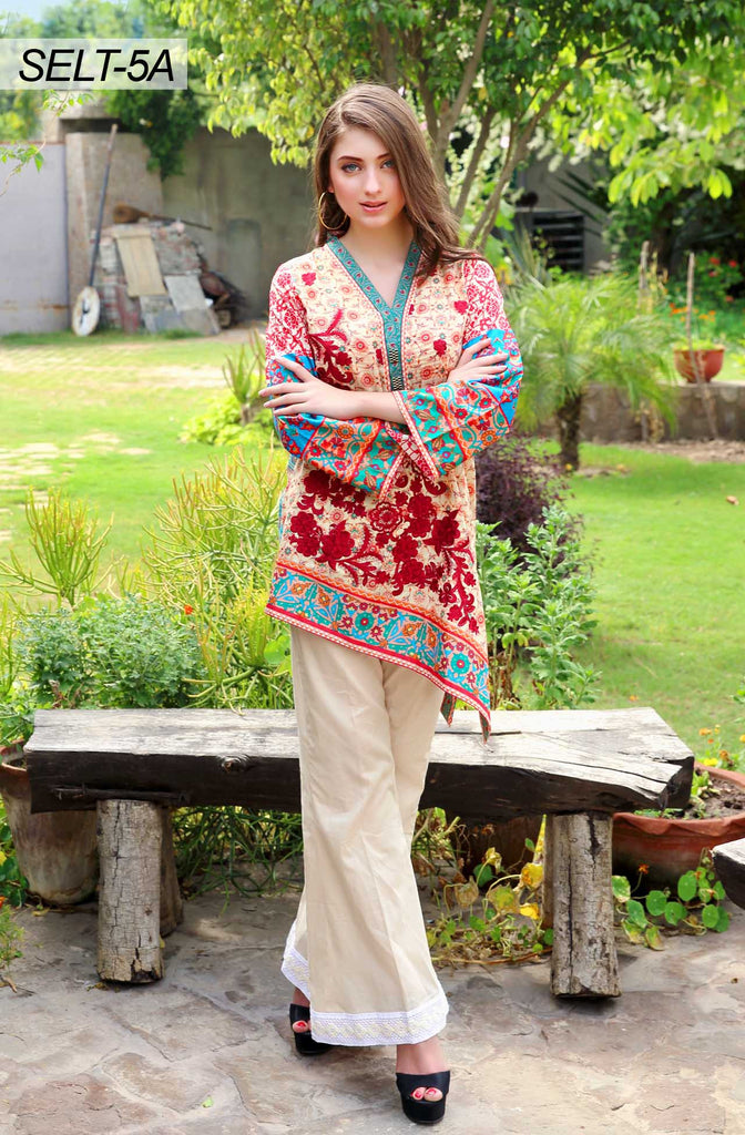 Sifona Embroidered Lawn Tunics '16 – 5A - YourLibaas  - 1