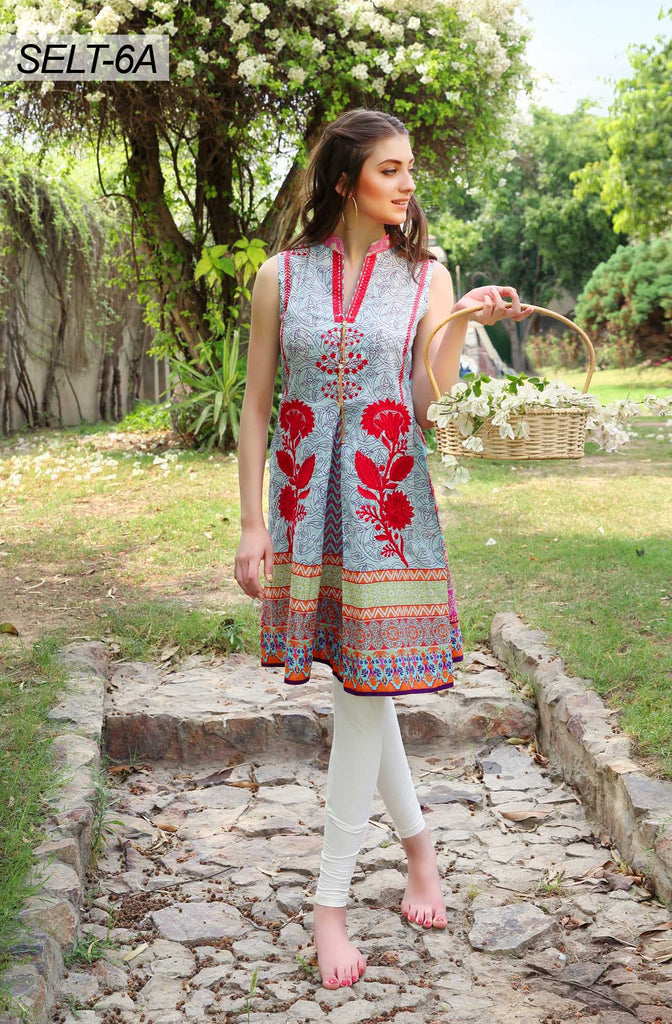 Sifona Embroidered Lawn Tunics '16 – 6A - YourLibaas  - 1