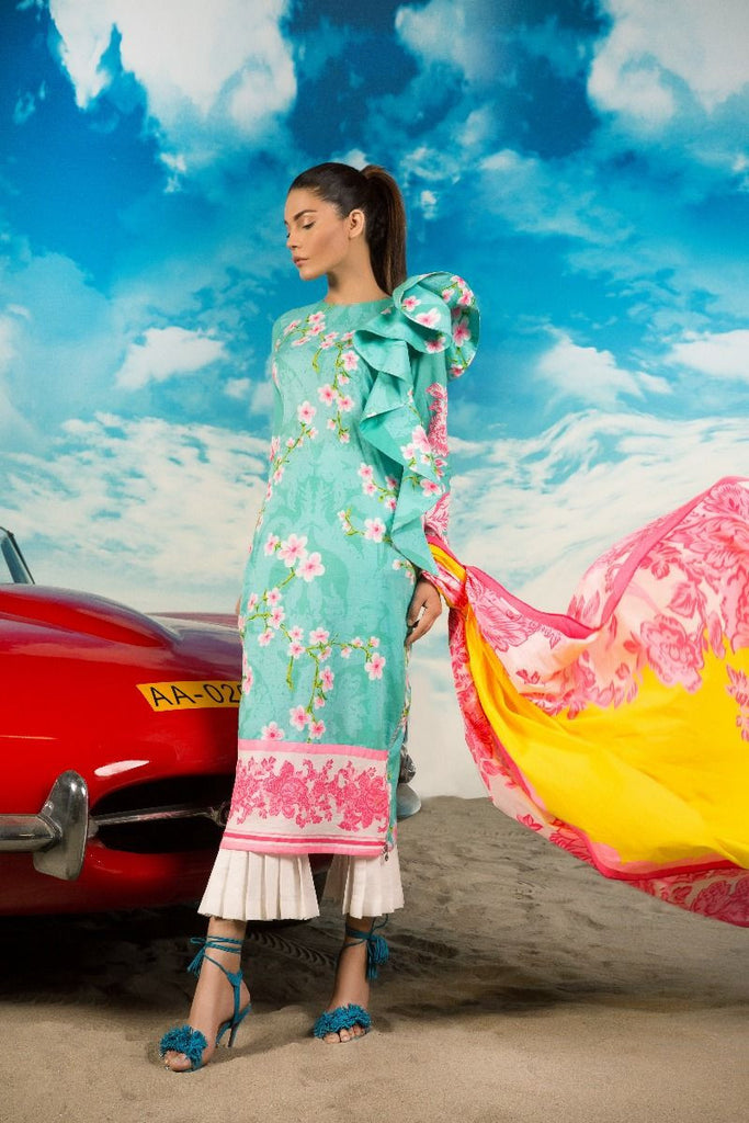 Sana Safinaz Muzlin Lawn Collection 2017 – 25B
