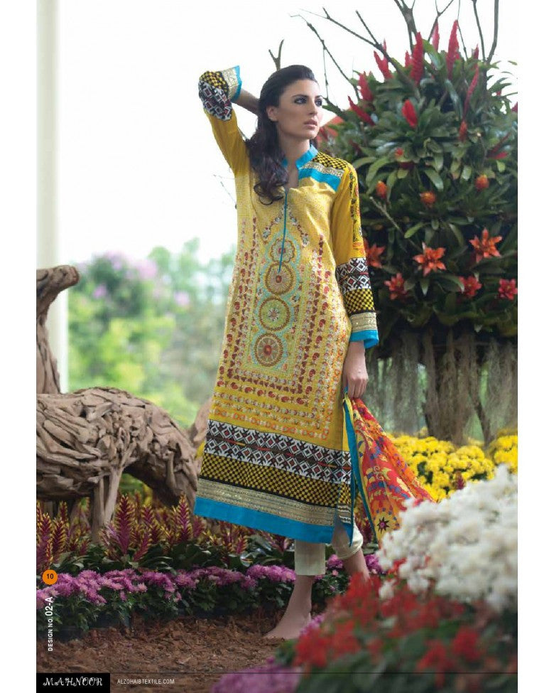 2A - Mahnoor Embroidered Collection 2015 - YourLibaas  - 1