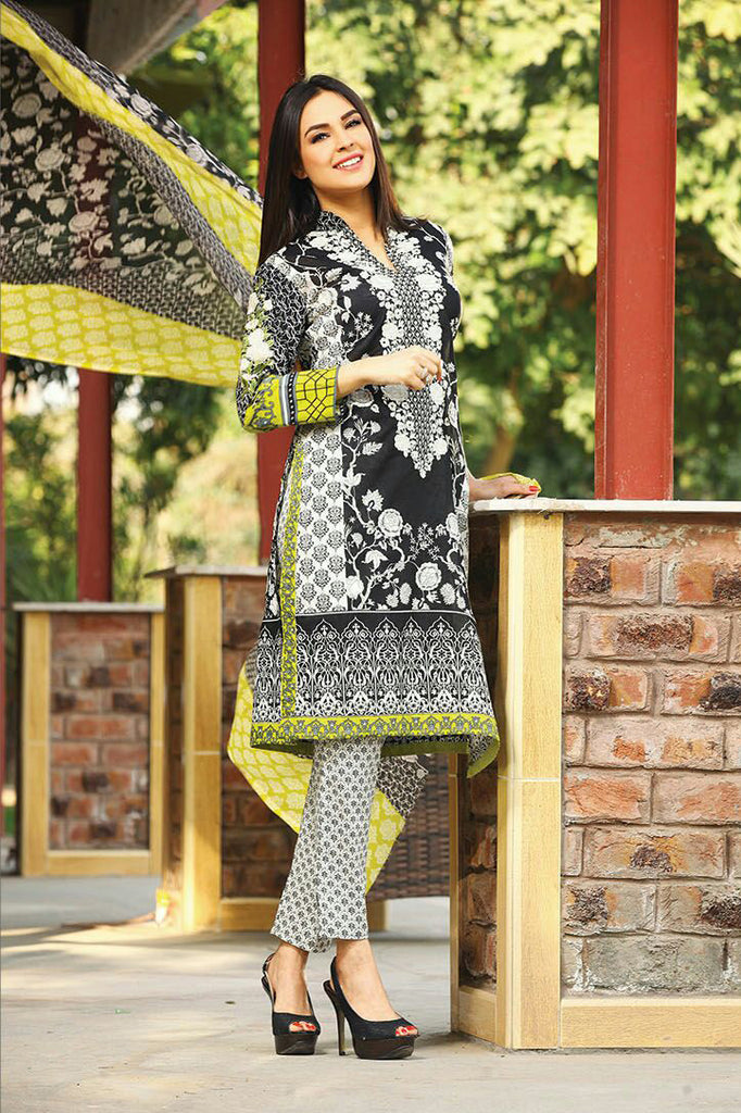 RajBari Spring/Summer Embroidered Lawn – 02A - YourLibaas  - 1