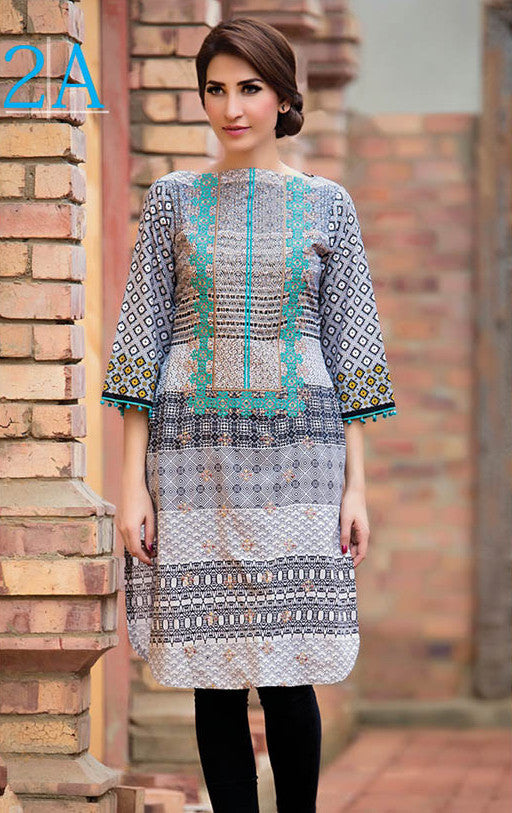 Subhata Embroidered Lawn Tunic Collection - 2A - YourLibaas  - 1